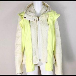 Lulu lemon Cream and Yellow Spring Jacket